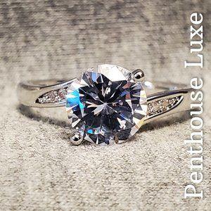 White Sapphire 925 Bypass Swirl Ring